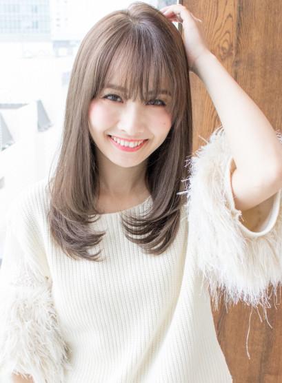 大人かわいいセミディ(髪型セミロング)