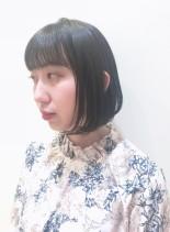 シンプルな内巻きBOB(髪型ボブ)