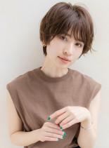 大人カジュアルな抜け感ショート(髪型ショートヘア)