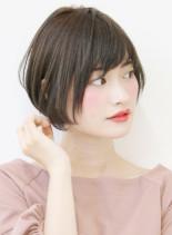 30代〜の大人女性コンパクトショートボブ(髪型ショートヘア)