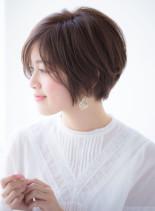 30代40代にオススメ☆小顔ショートボブ(髪型ショートヘア)