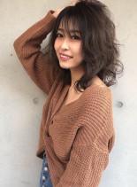 ミディアムレイヤースタイル(髪型ミディアム)