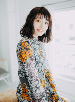 40代 手入れ簡単 ミディアム☆ウェーブ(髪型ミディアム)