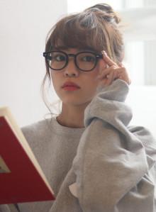 メガネに◎アップスタイル