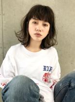 ストリート外ハネボブ(髪型ミディアム)