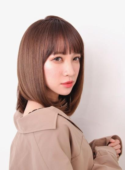 髪型 ストレート ミディアム