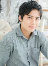 ソフトな質感★黒髪ショート(髪型メンズ)