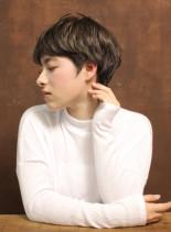 大人フレンチマッシュショート(髪型ショートヘア)