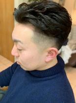 ツーブロックパーマのスキンフェード(髪型メンズ)