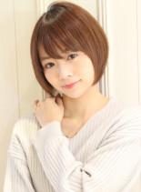 大人女子・丸みが可愛いショートボブ(髪型ショートヘア)