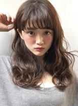 32ミリで作る波ウェーブ☆(髪型セミロング)