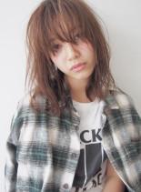 大人かわいいモテゆるパーマ(髪型ミディアム)