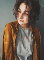 ランダムカールショート(髪型ショートヘア)
