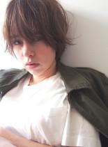 3Dカラー×ジグザグバングミニマムボブ(髪型ショートヘア)