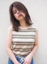外国人風ラフウェーブ(髪型ミディアム)