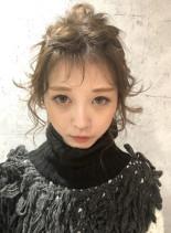 ポニーテール×こなれ感×ツイストアレンジ(髪型ミディアム)