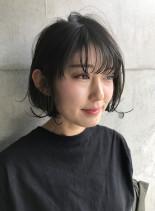 内巻き外ハネMIXボブ(髪型ボブ)