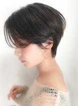 30代40代大人ひし形ショートボブ(髪型ショートヘア)