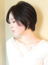 大人女子・丸みが綺麗なひし形ショート(髪型ショートヘア)