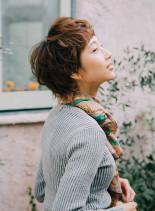 前髪短めハンサムレディショート(髪型ベリーショート)