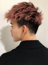 ツーブロックニュアンスパーマショート(髪型メンズ)