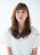 大人可愛いワンカールフェミニンスタイル(髪型ロング)