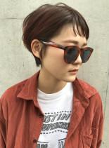 シースルーバンググラボブ(髪型ショートヘア)