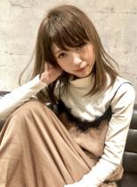 艶髪Cカールミディ(髪型ミディアム)