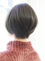 30代40代50代のすっきりショートボブ(髪型ショートヘア)