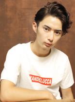 大人サイドパートショート(髪型メンズ)