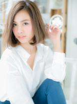 スポンテニアスカラー☆ワンカールボブ(髪型ボブ)