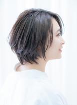 30代40代50代美シルエットショート(髪型ショートヘア)