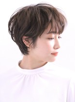 抜け感☆大人可愛いゆるふわショート(髪型ショートヘア)