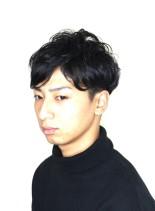 ナチュラルツーブロック(髪型メンズ)
