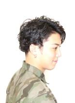 ウェーブツーブロックスタイル(髪型メンズ)