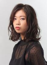 モテクールウェーブ(髪型ミディアム)