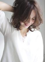 大人ゆるミディアム(髪型ミディアム)