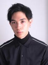 アップバングショート(髪型メンズ)