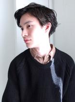 ソフトウェーブショート(髪型メンズ)