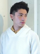 ソフトモヒカンショート(髪型メンズ)