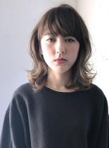 ミディアムマッシュウルフ(髪型ミディアム)