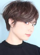 横顔美人なハンサムショート☆30代人気(髪型ショートヘア)