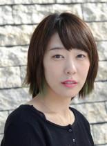 カラースタイル(髪型ショートヘア)
