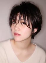 うざバング×セミウェット×ショート(髪型ショートヘア)