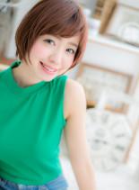 大人ガーリーショート(髪型ショートヘア)