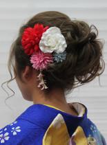 成人式ヘア(髪型セミロング)