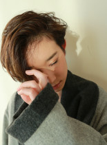 かきあげフレンチショート(髪型ショートヘア)
