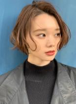 抜け感可愛いミニボブ(髪型ショートヘア)