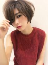 30代ひし形ショートボブ(髪型ショートヘア)