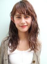 *オシャレミディアムパーマ*(髪型セミロング)